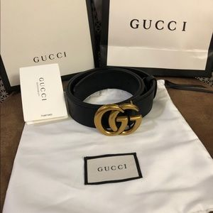 Gucci gold belt ladies